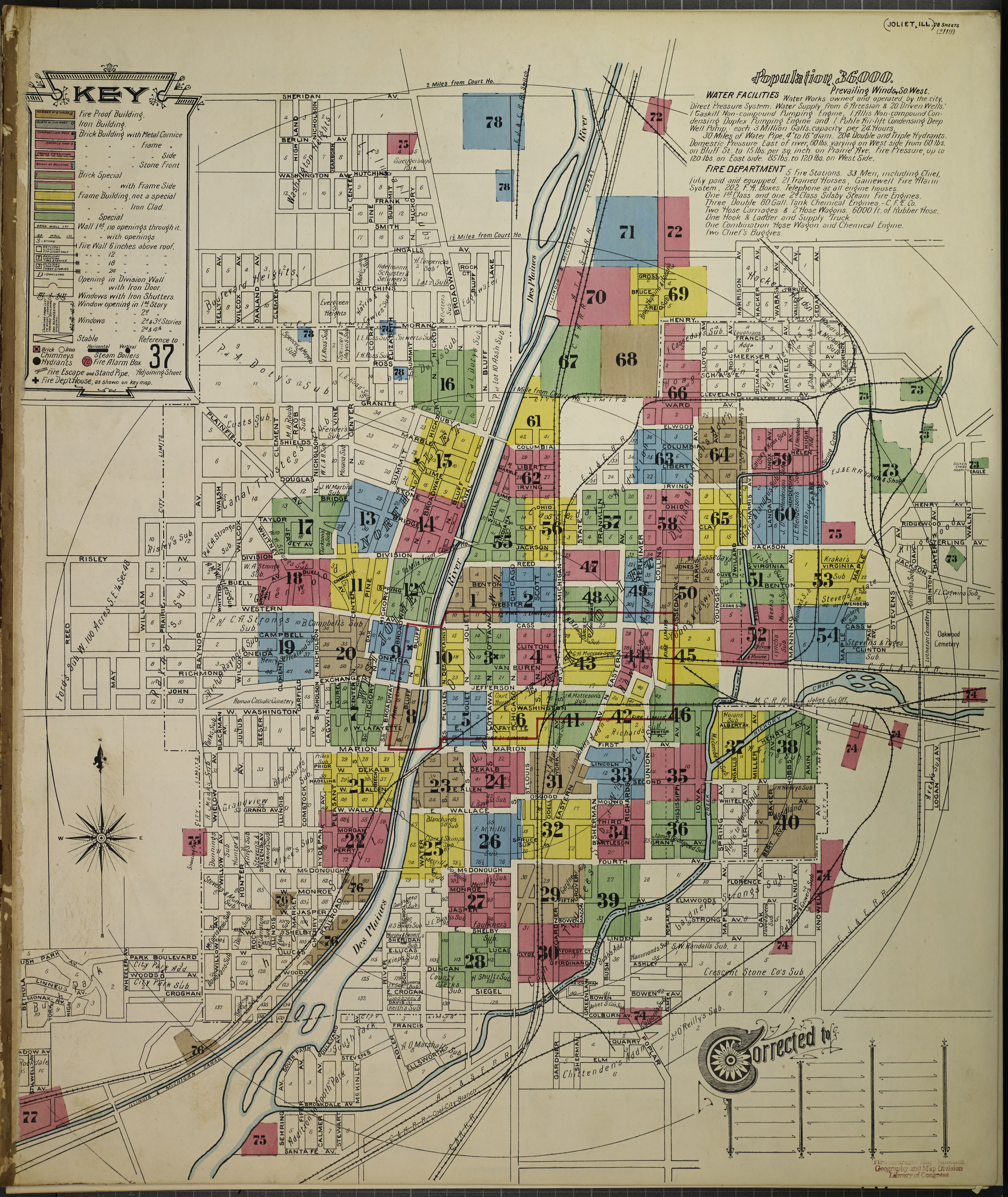 File Sanborn Fire Insurance Map From Joliet Will County Illinois