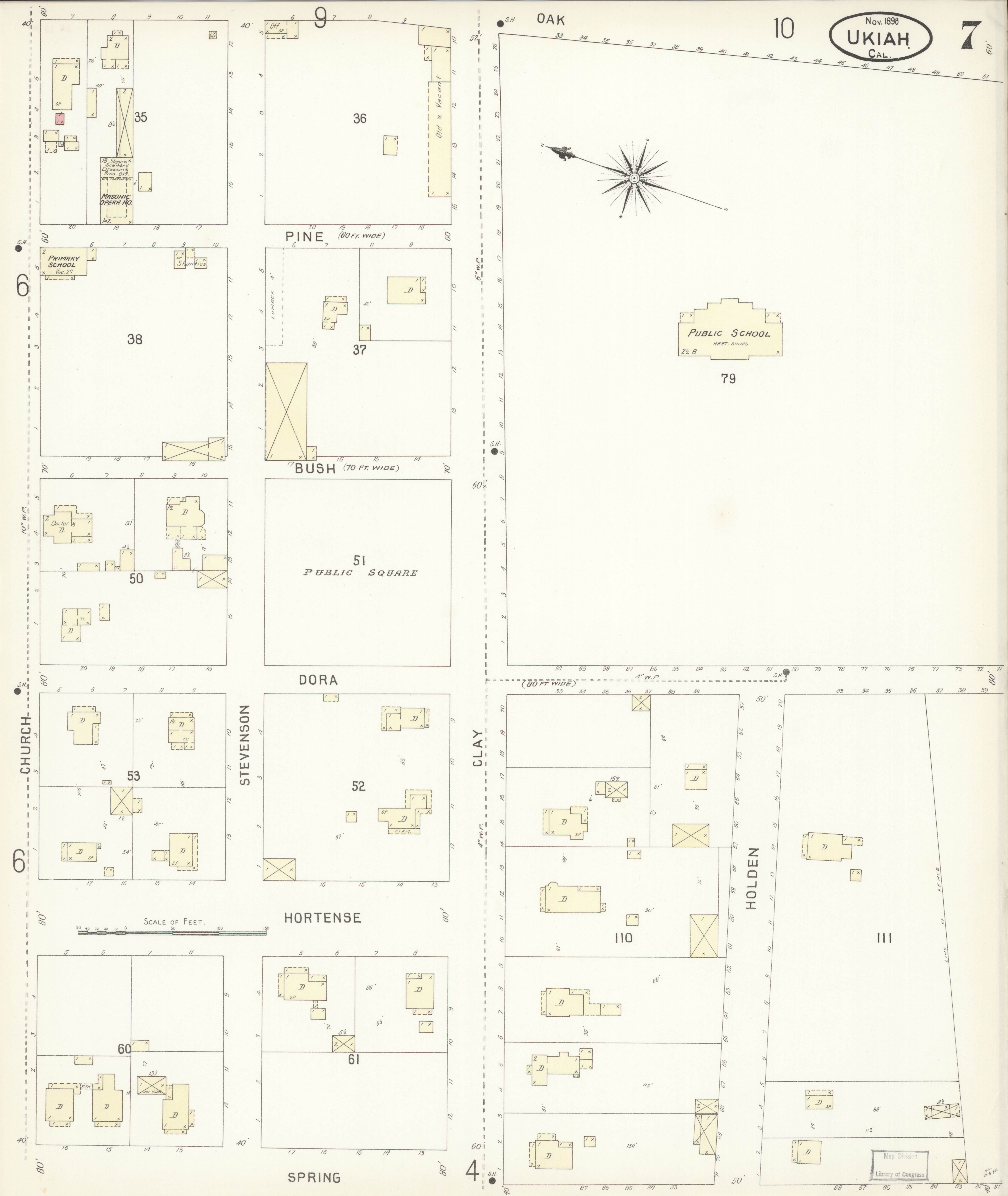 File Sanborn Fire Insurance Map From Ukiah Mendocino County
