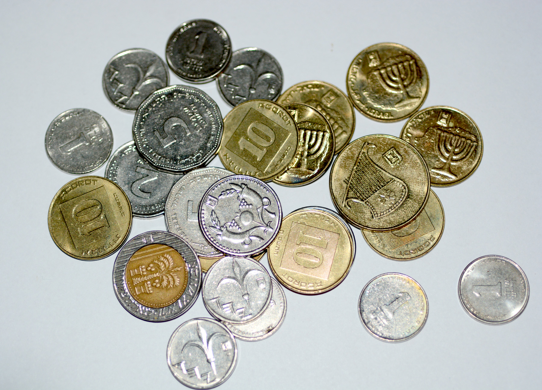 File Tered Coins Israeli Currency