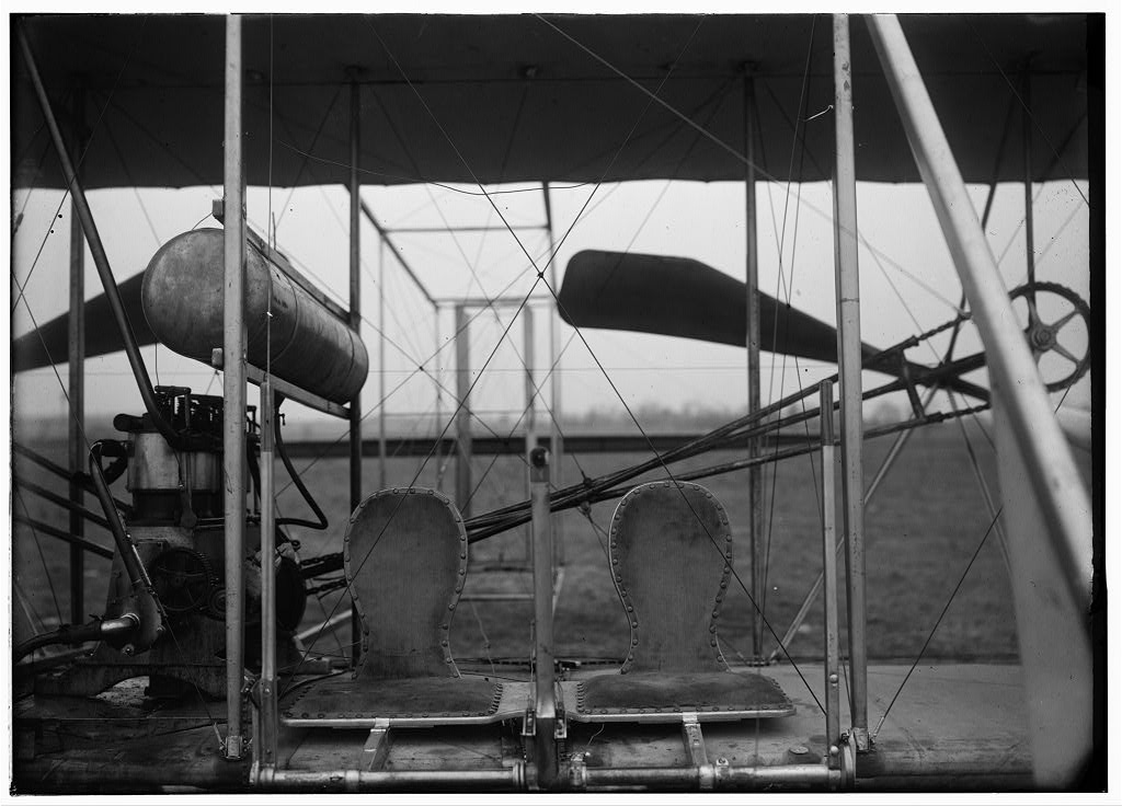 Seats in the Wright brothers aircraft.jpg