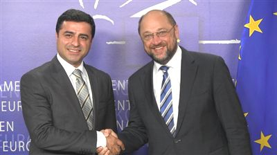 Demirtas meeting with the President of the European Parliament, Martin Schulz in 2013 Selahattin Demirtas and Martin Schulz.jpg