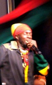 Jamaican reggae musician Sizzla Kalonji. Taken...