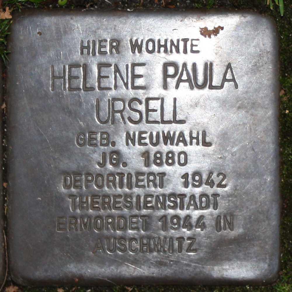Stolperstein Hella Paula Ursell Wuppertal 1000.jpg
