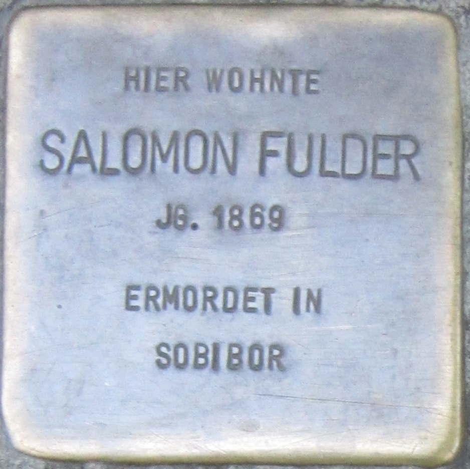 Datei:Stolperstein Würzburg Fulder Salomon.jpeg – Wikipedia