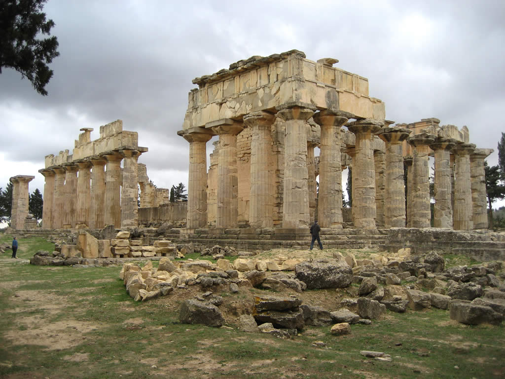 The temple of Zeus in the ancient Greek city of Cyrene.