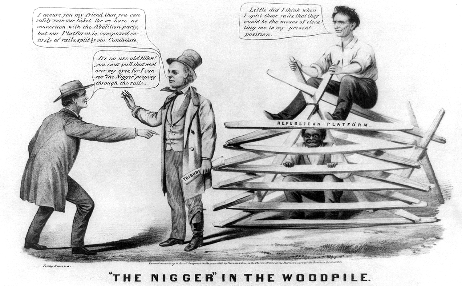 1860 pro-slavery United States cartoon