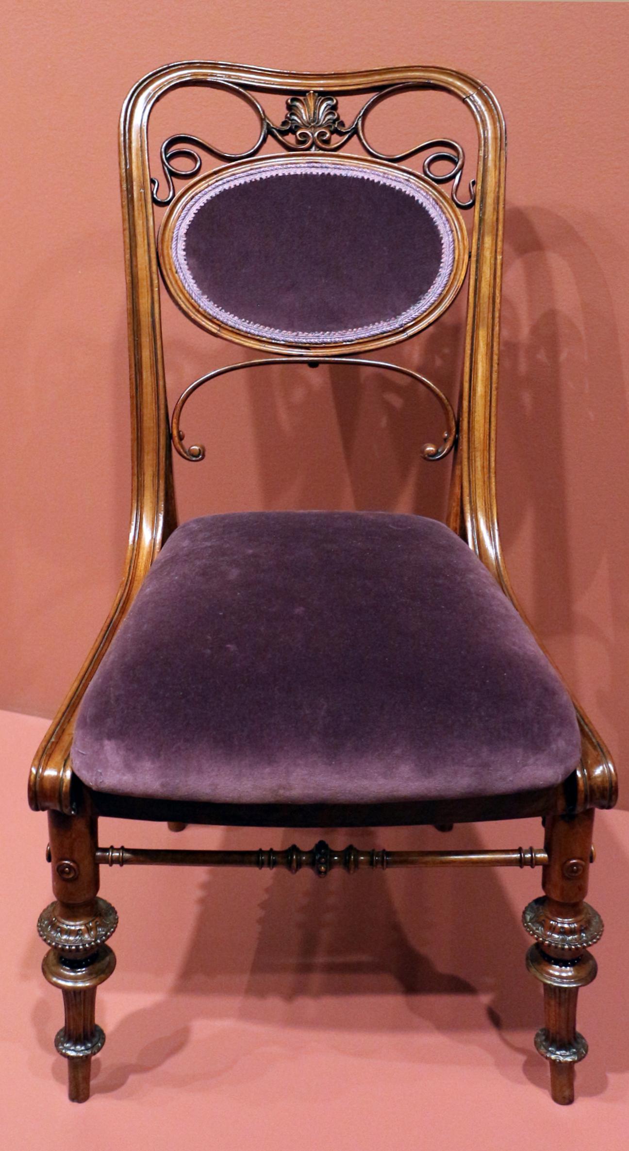 File:Theophil hansen per stephan wichers, sedia per sala da pranzo ...