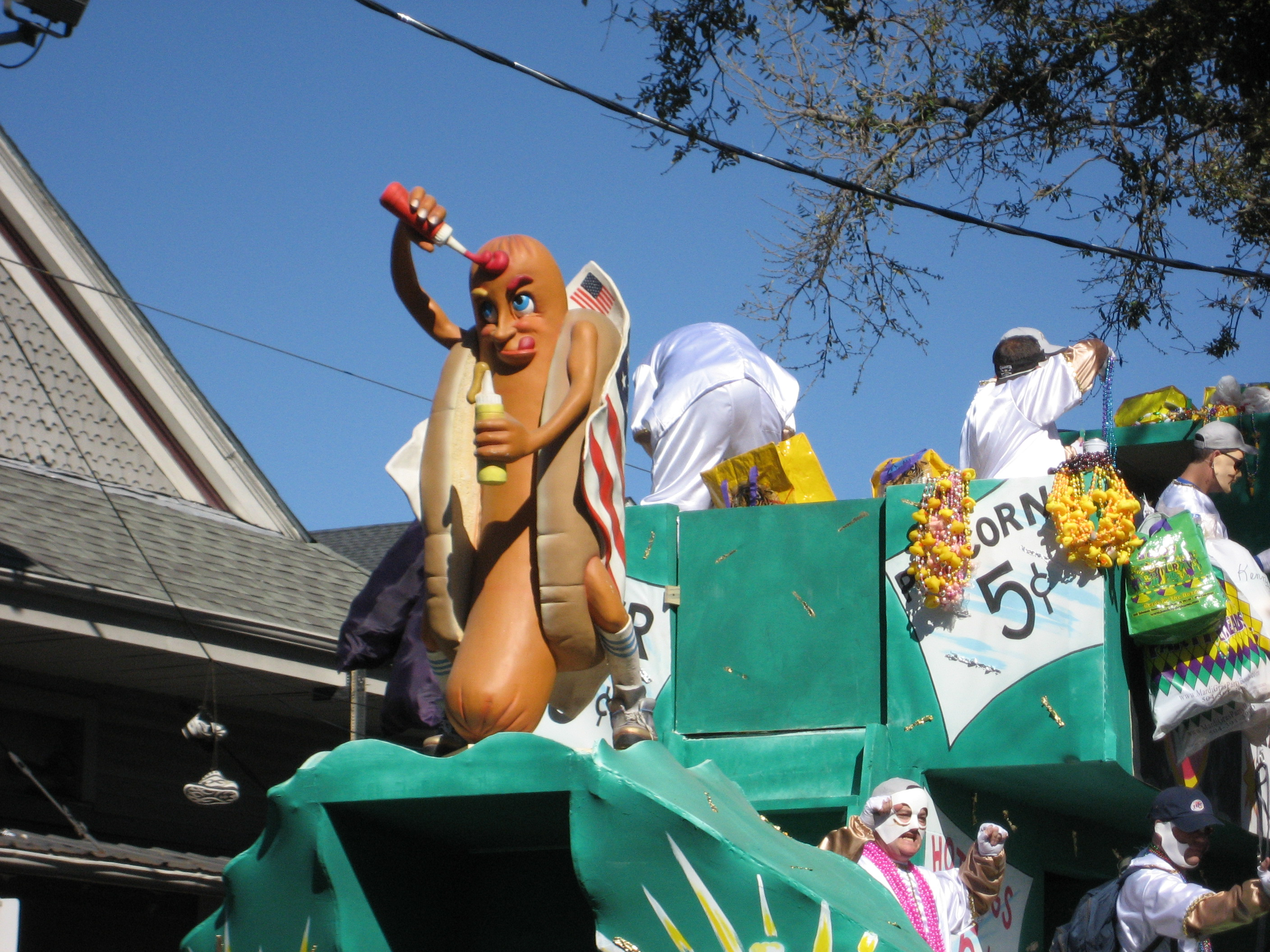 New Orleans Carnival. Thoth parade on Magazine Street.