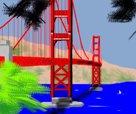 Tuxpaint Golden Gate Bridge Sf Png