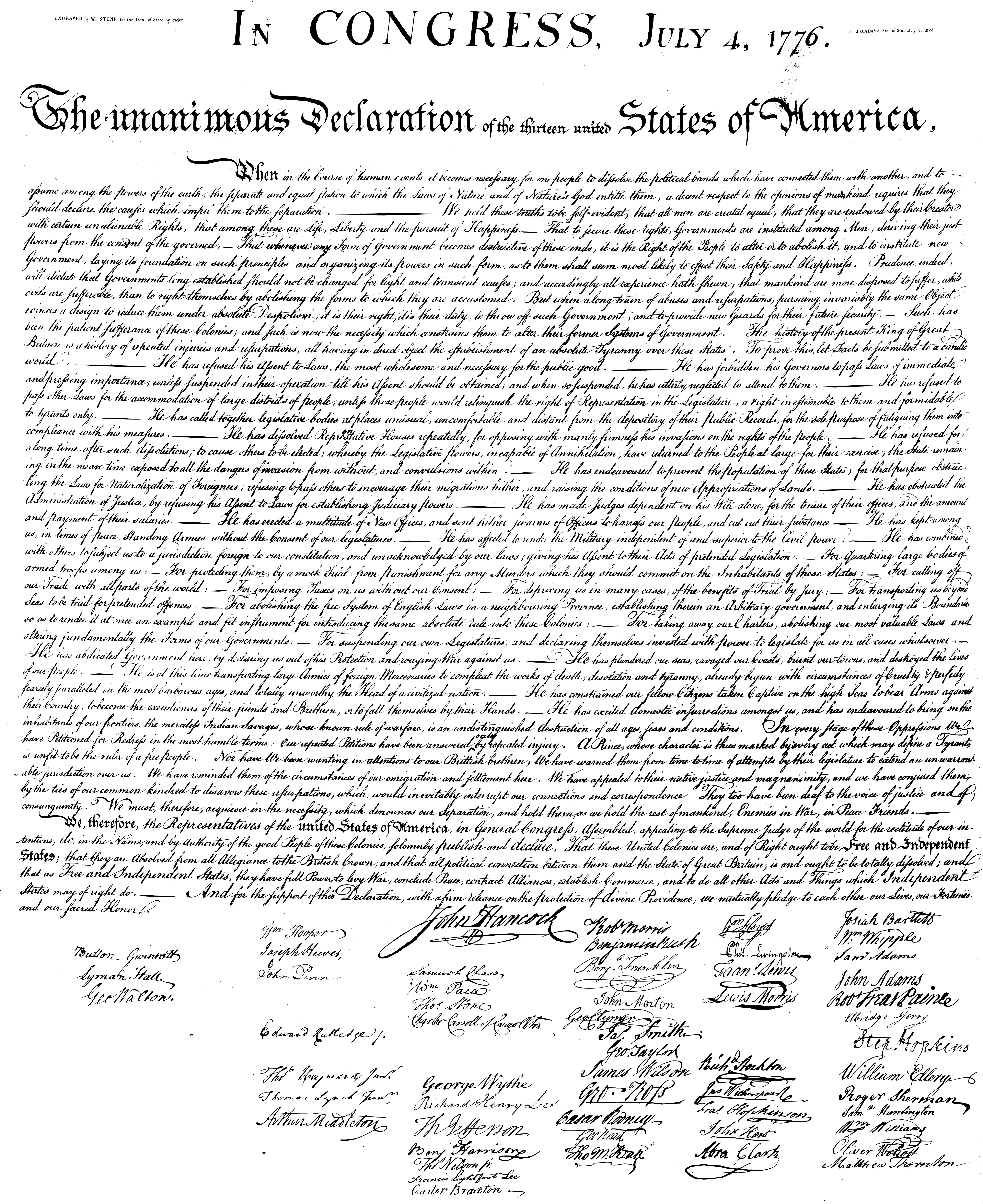 File:US Declaration of Independence 5000w.jpg - Wikimedia Commons