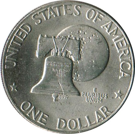 US Liberty Bell Eisenhower Dollar