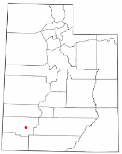 Location of Enoch, Utah