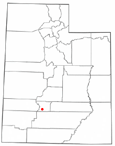 Location of Kingston, Utah