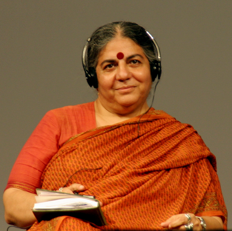 vandana shiva Navdanya is a network of seed keepers and organic producers spread across 16 states in indiait has its 54 seed banks across the country and organic farm spread over an area of 20 acres in uttranchal, north india.