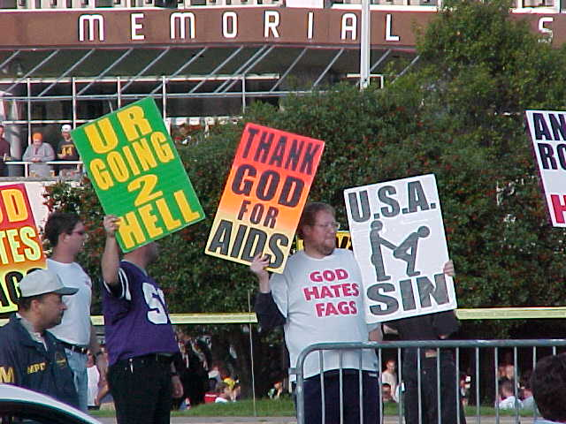 Westboro Baptist Church members