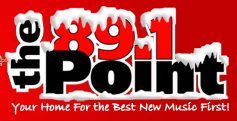 Customized logo for 89.1 The Point that's used in the winter.