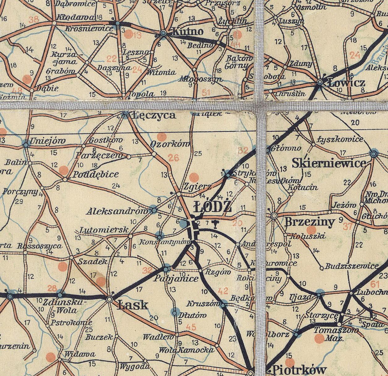 File Zgierz Mapa Samochodowa 1939 Jpg Wikimedia Commons