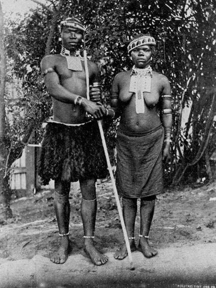 Zulu Bride and Bridegroom (National Geographic)