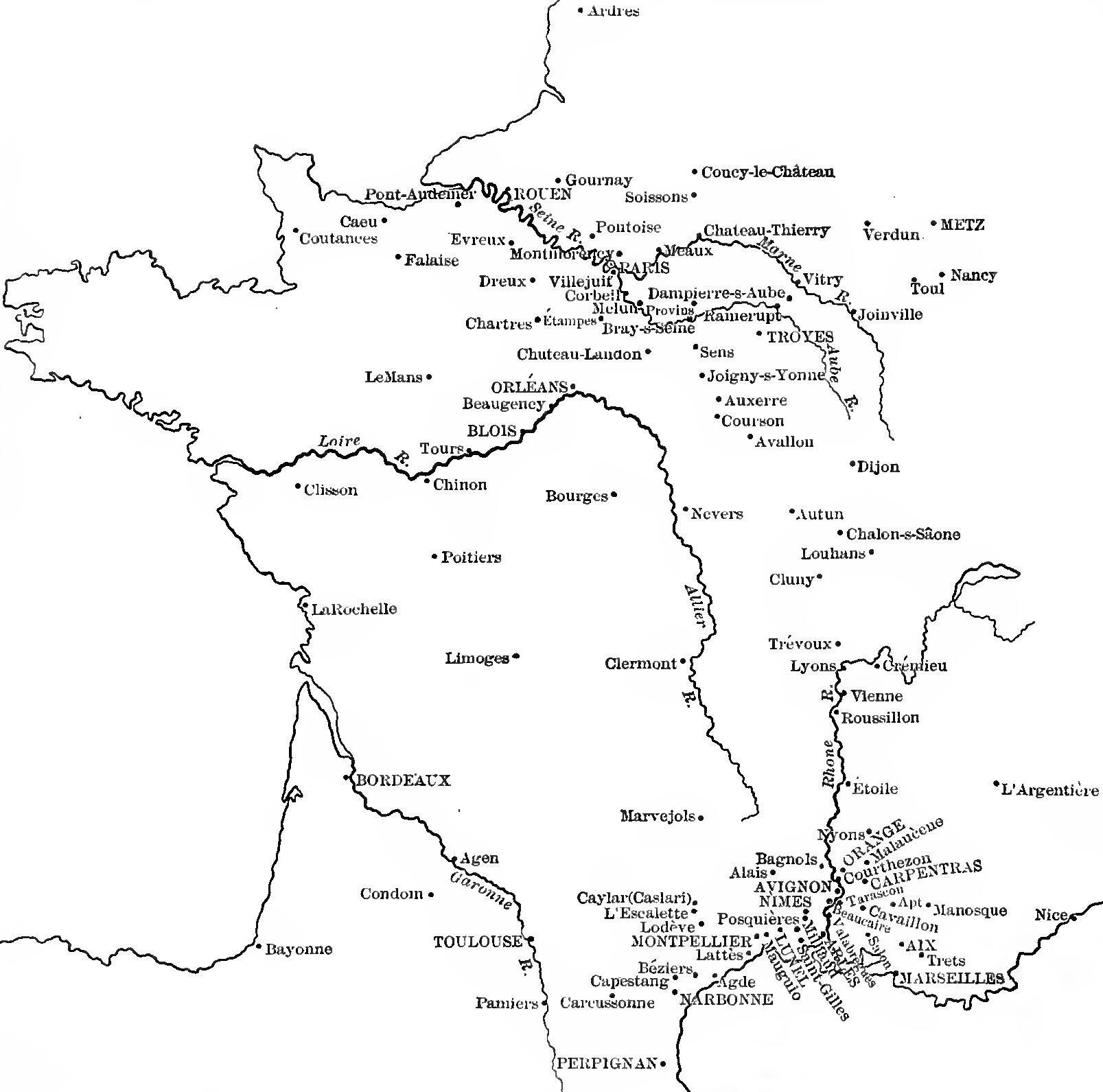 Map Of France Showing Nice.File Map Of France Showing Chief Towns Where Jews Dwelt Before The