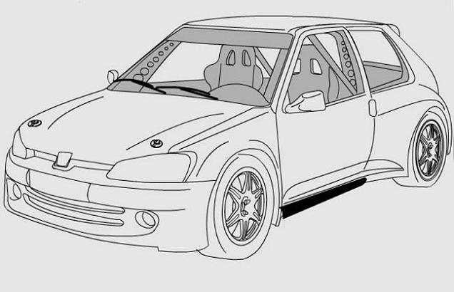 dessin a colorier de voiture tuning