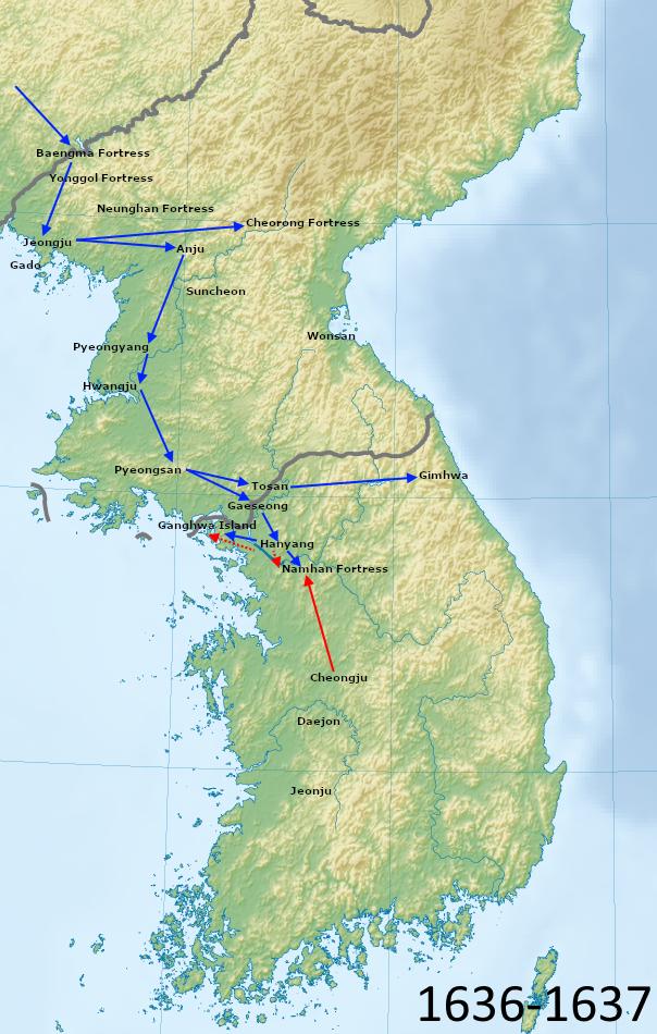 Qing invasion of Joseon - Wikipedia