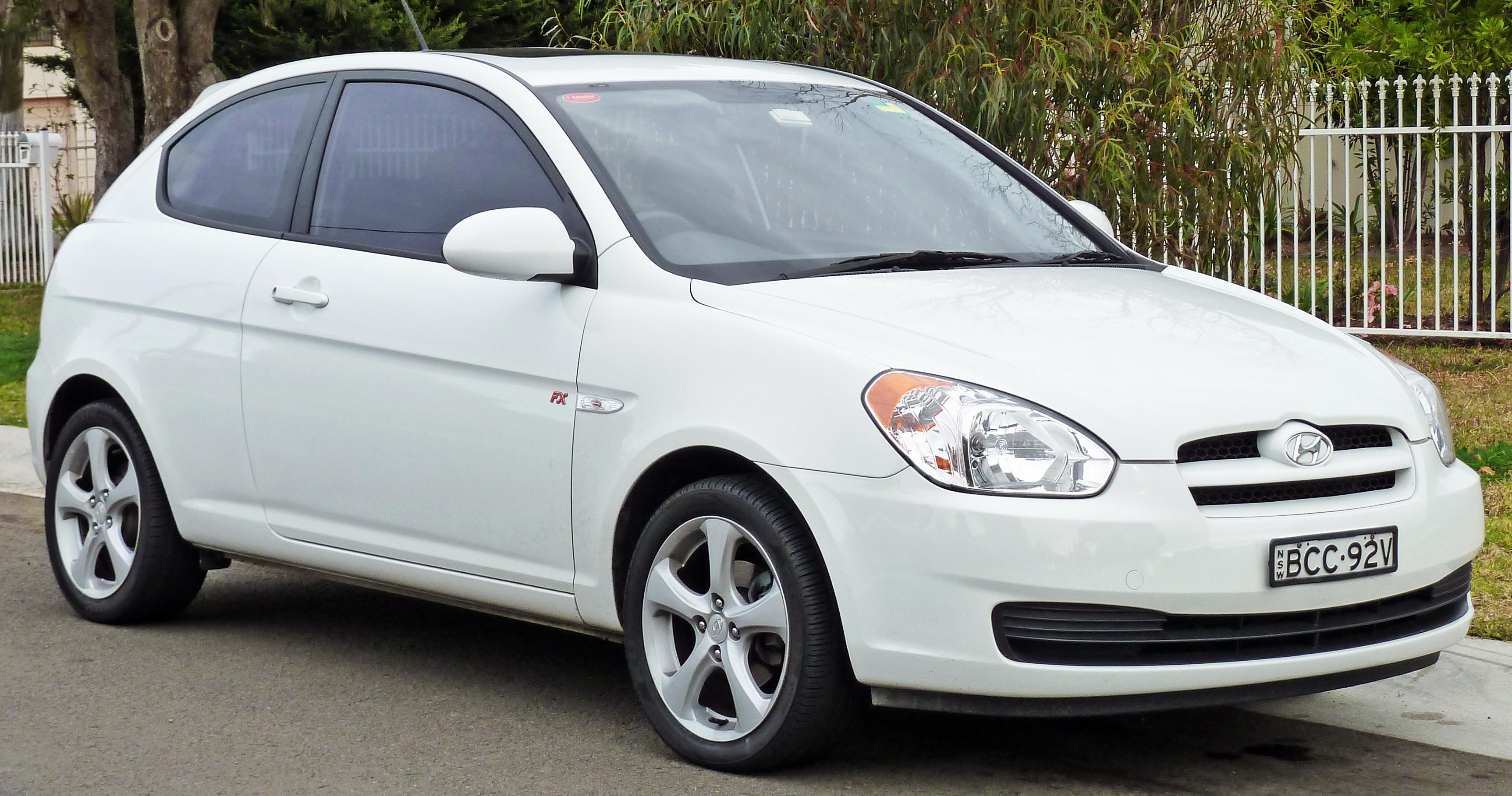 Description 2006-2007 Hyundai Accent (MC) FX Limited Edition hatchback ...