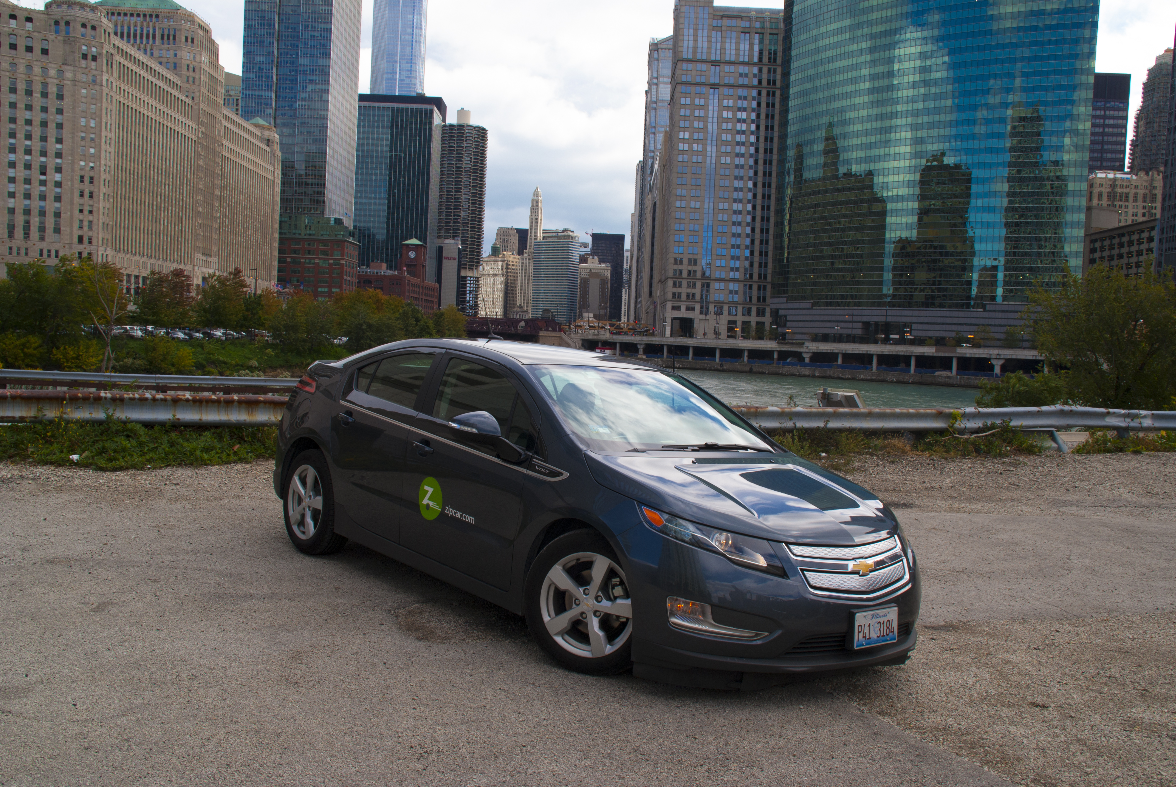 The Chevrolet Volt Plug-in hybrid is available to Zipcar members in Chicago.