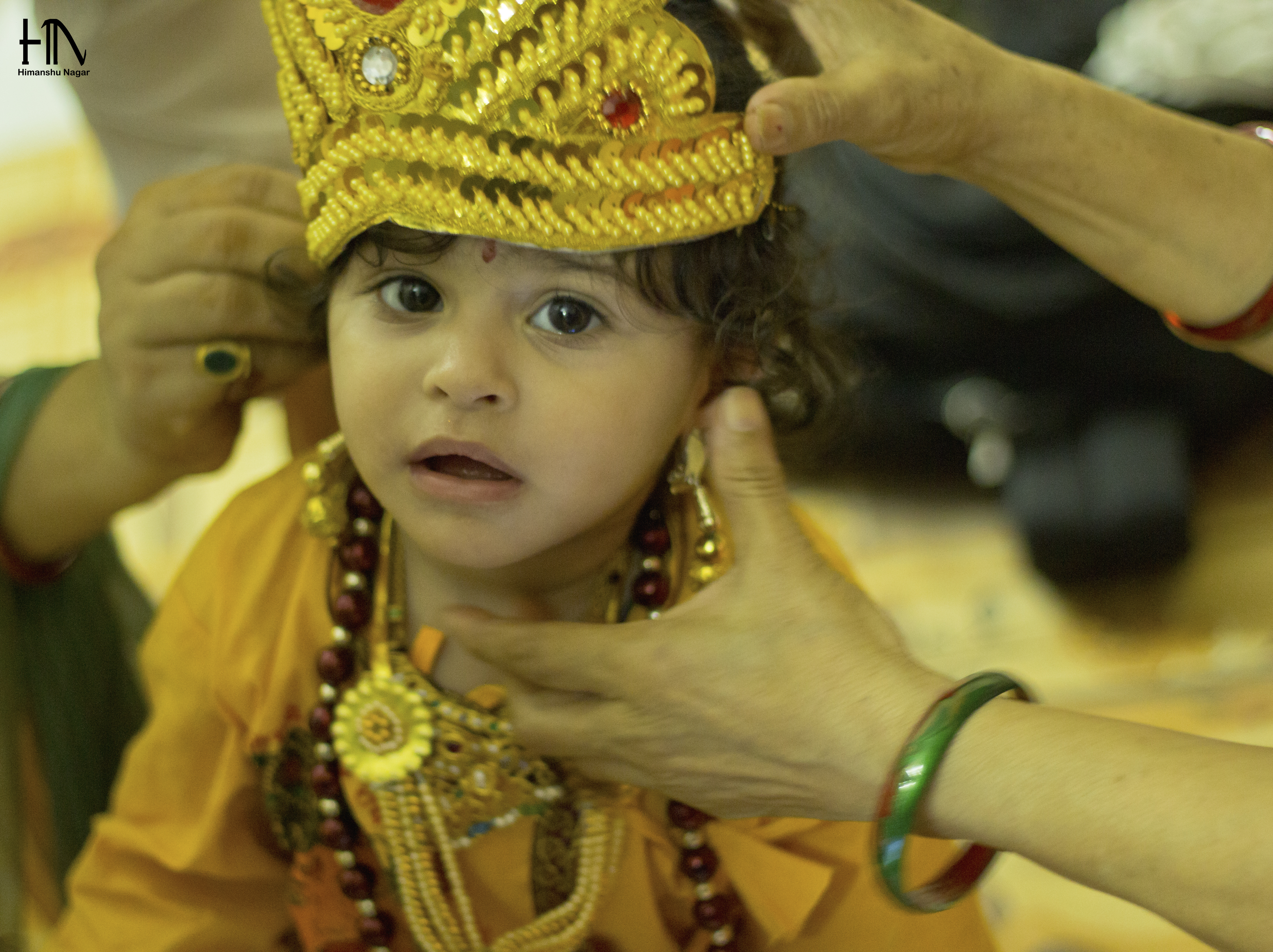 File:A Hindu Baby Being Dressed Up As Krishna For The