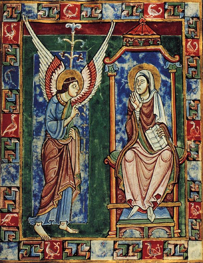 The Annunciation. From the Saint Albans Psalter