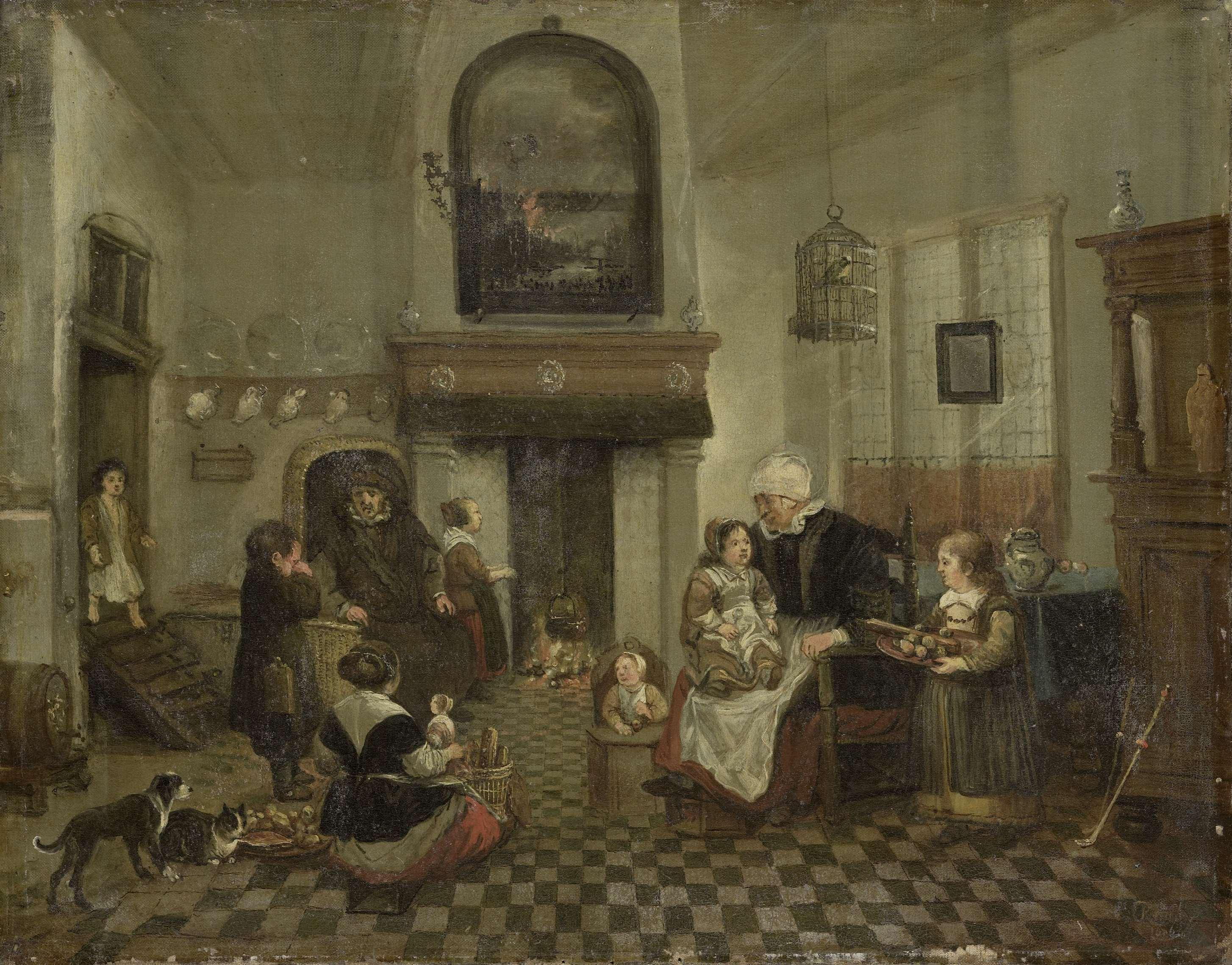 Sint Nicolaasfeest Rijksmuseum.Bestand Anonymous Sint Nicolaasfeest Sk A 592