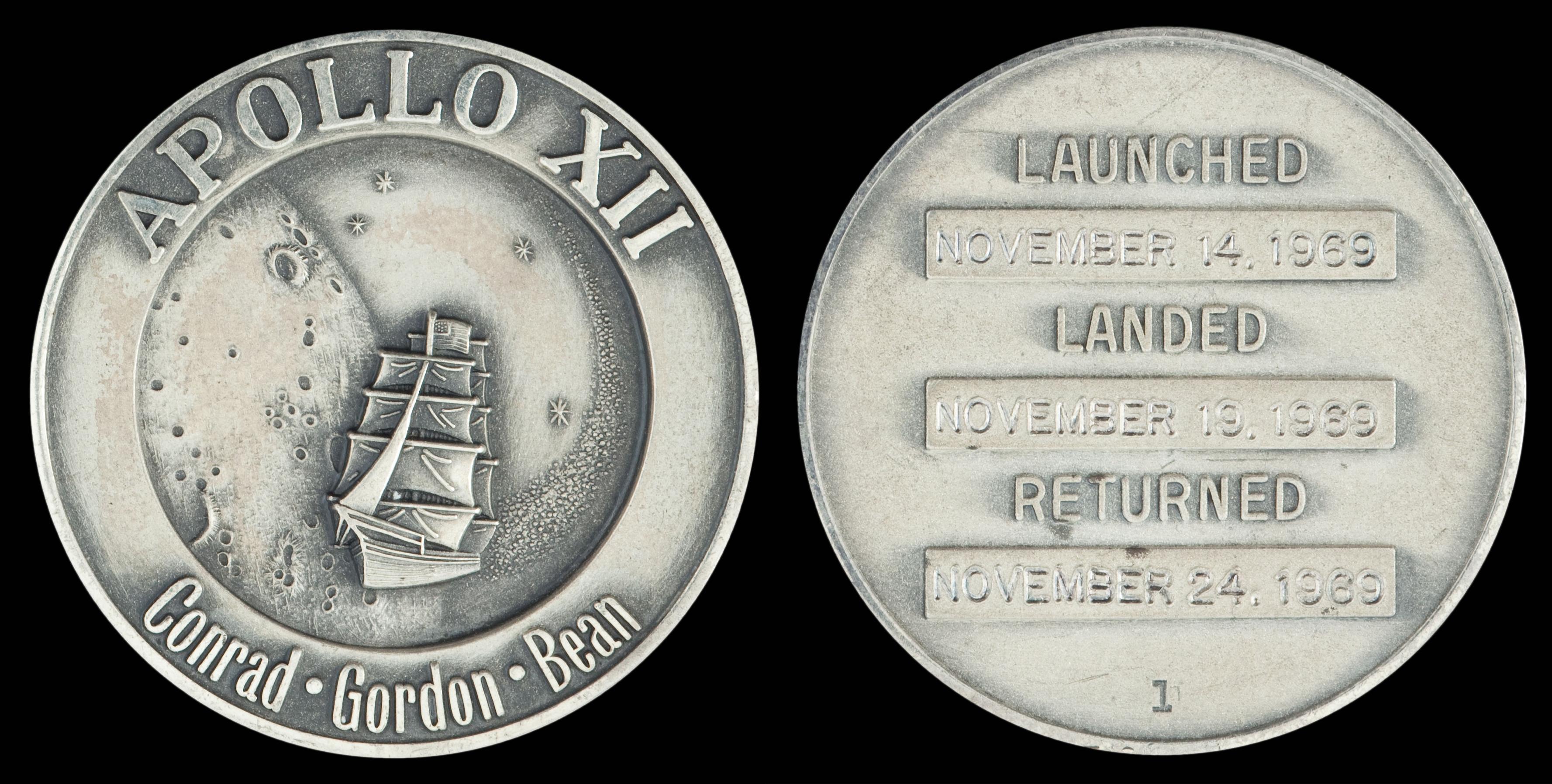 NASA space-flown Gemini and Apollo medallions   National ...