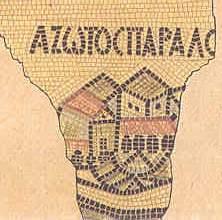 Azotus Paraliyus on Madaba Map - ASHDOD AD 542