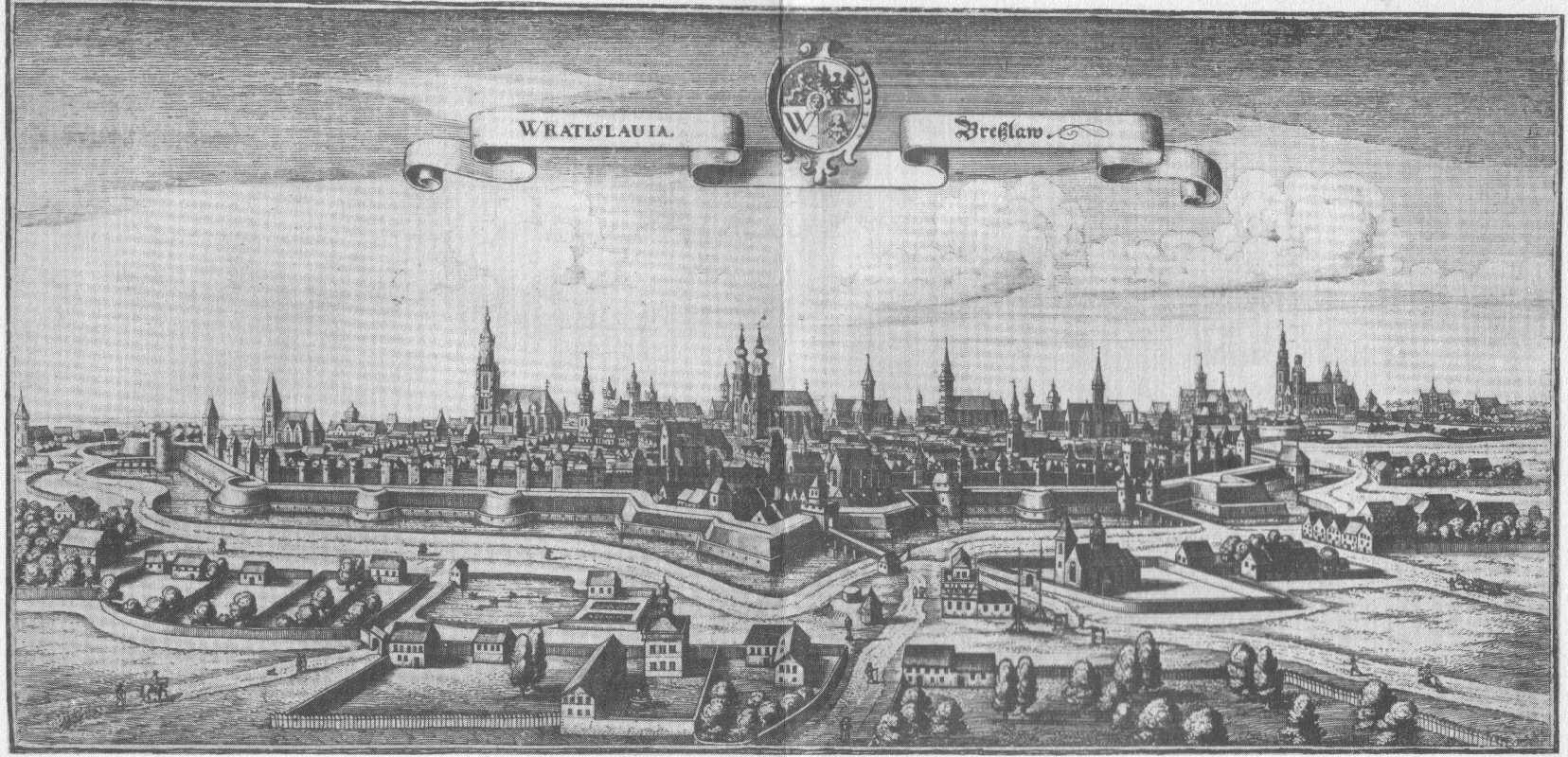 Breslau um 1640 (Merian)