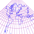 Mapa realizado mediante proyección cónica