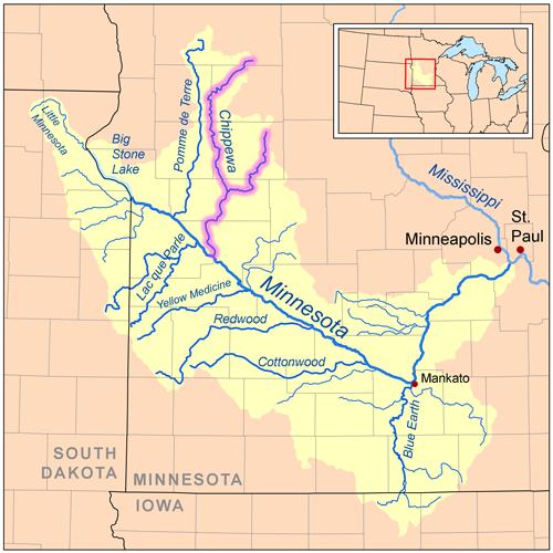 Chippewa River Minnesota Wikipedia - Minneapolis minnesota on us map