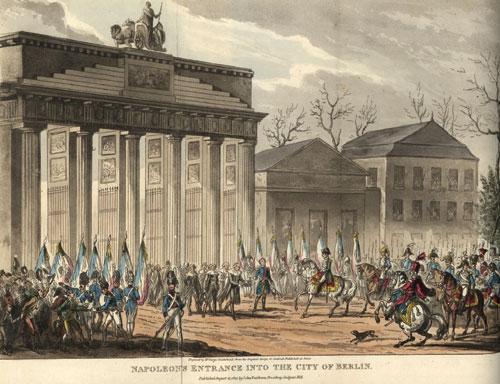 Napoléons Einzug in Berlin durch das Brandenburger Tor, 1806