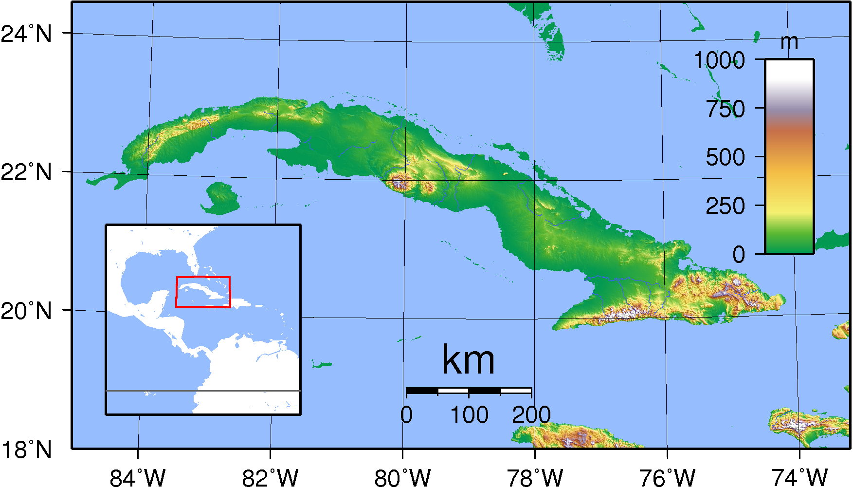 File Cuba Topography Png Wikimedia Commons