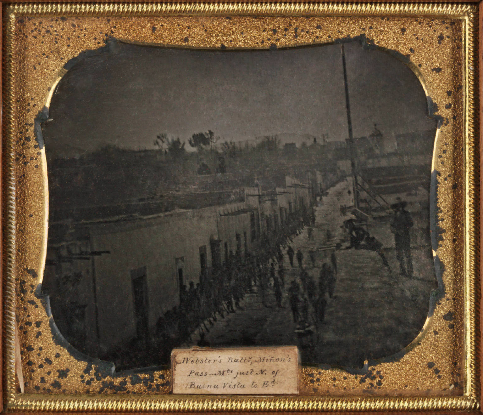 The Virginia regiment and Webster's battalion in Saltillo, Mexico, during the Mexican-American War.