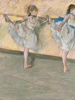 Danseuses à la barre - Signed 'Degas' (upper r...