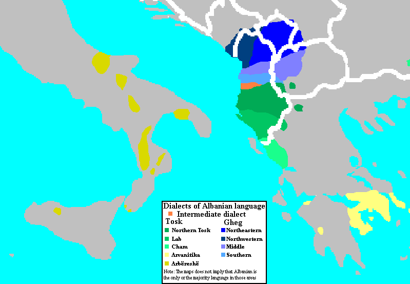 File:Dialects of the Albanian Language.png