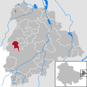 Dobitschen Place in Thuringia, Germany