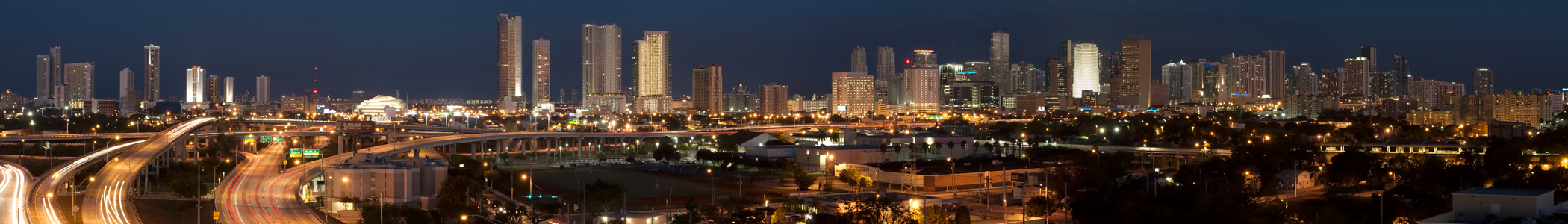 Skyline of Miami, Florida, United States