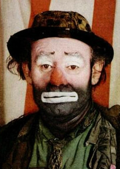 Emmett Kelly Clown Oil Painting
