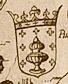 Escudo da Galiza na Nova Descriptio Hispaniae de Hieronymus Cock (1553).png