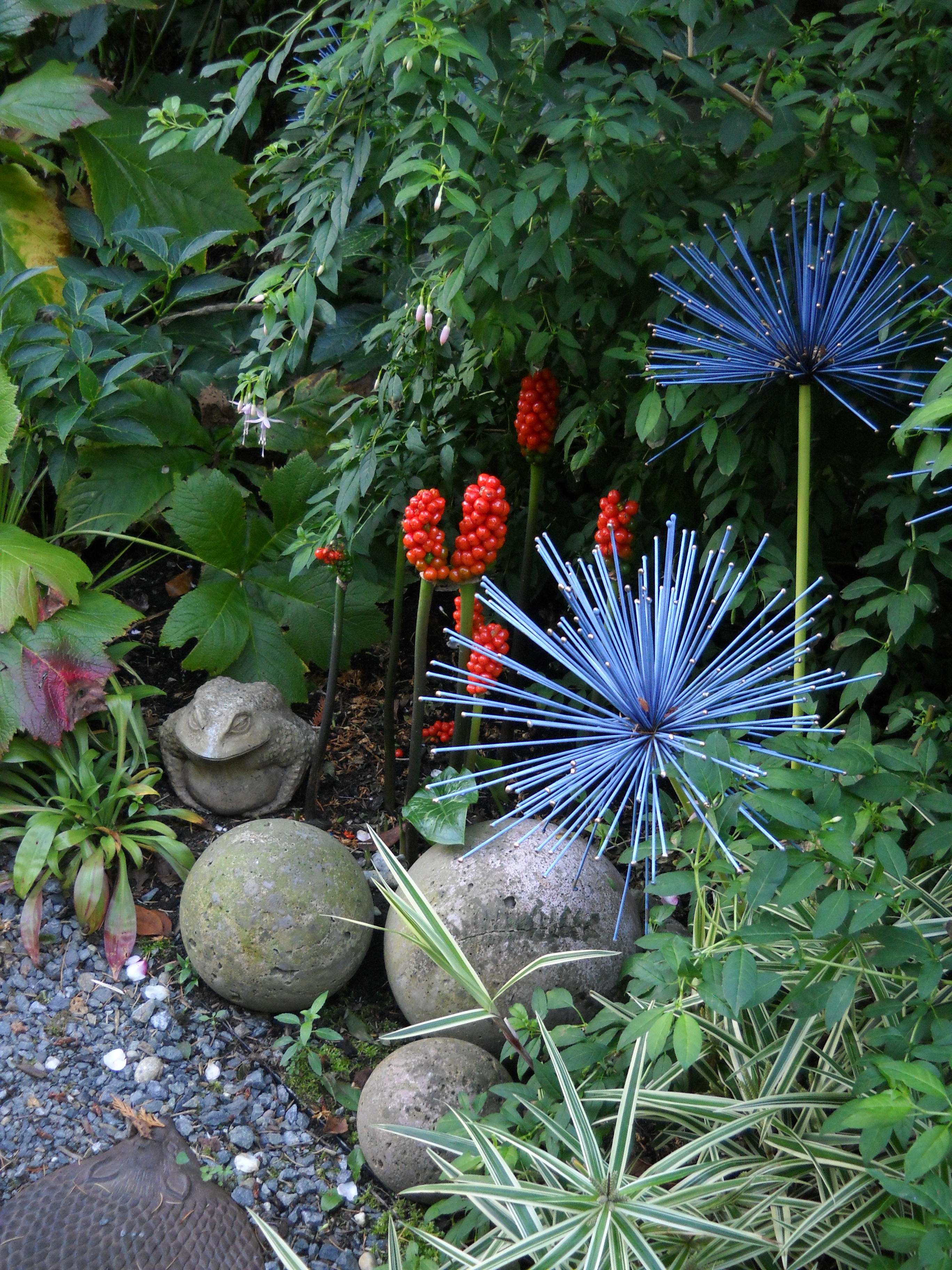 Whimsical Garden Art Photograph By Brewbooks From Near S