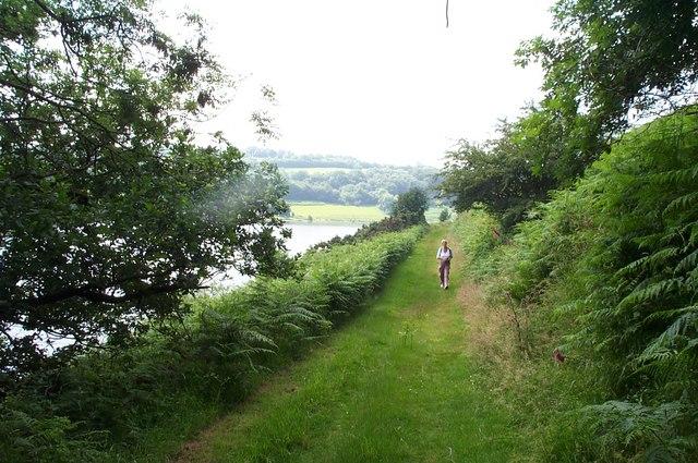Footpath around Clatworthy Reservoir - geograph.org.uk - 193554