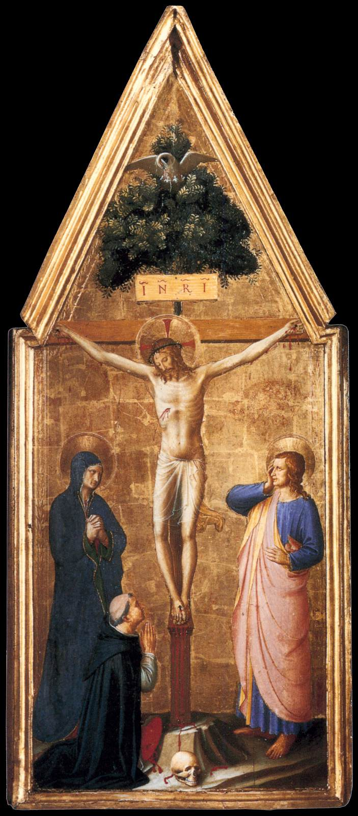 File:Fra Angelico - Crucified Christ with the Virgin, St John the ...
