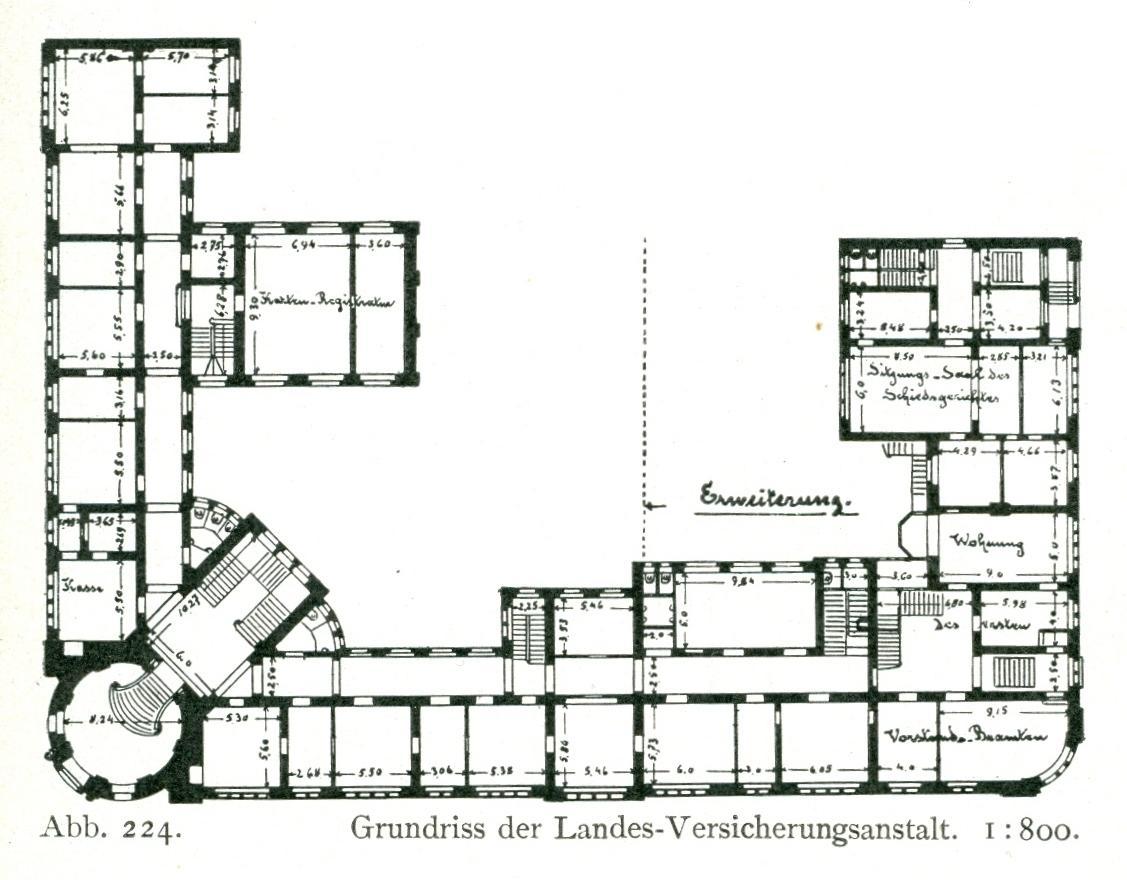datei gebaude der landesversicherungsanstalt der rheinprovinz friedrichstrasse ecke adersstrasse in dusseldorf erbaut