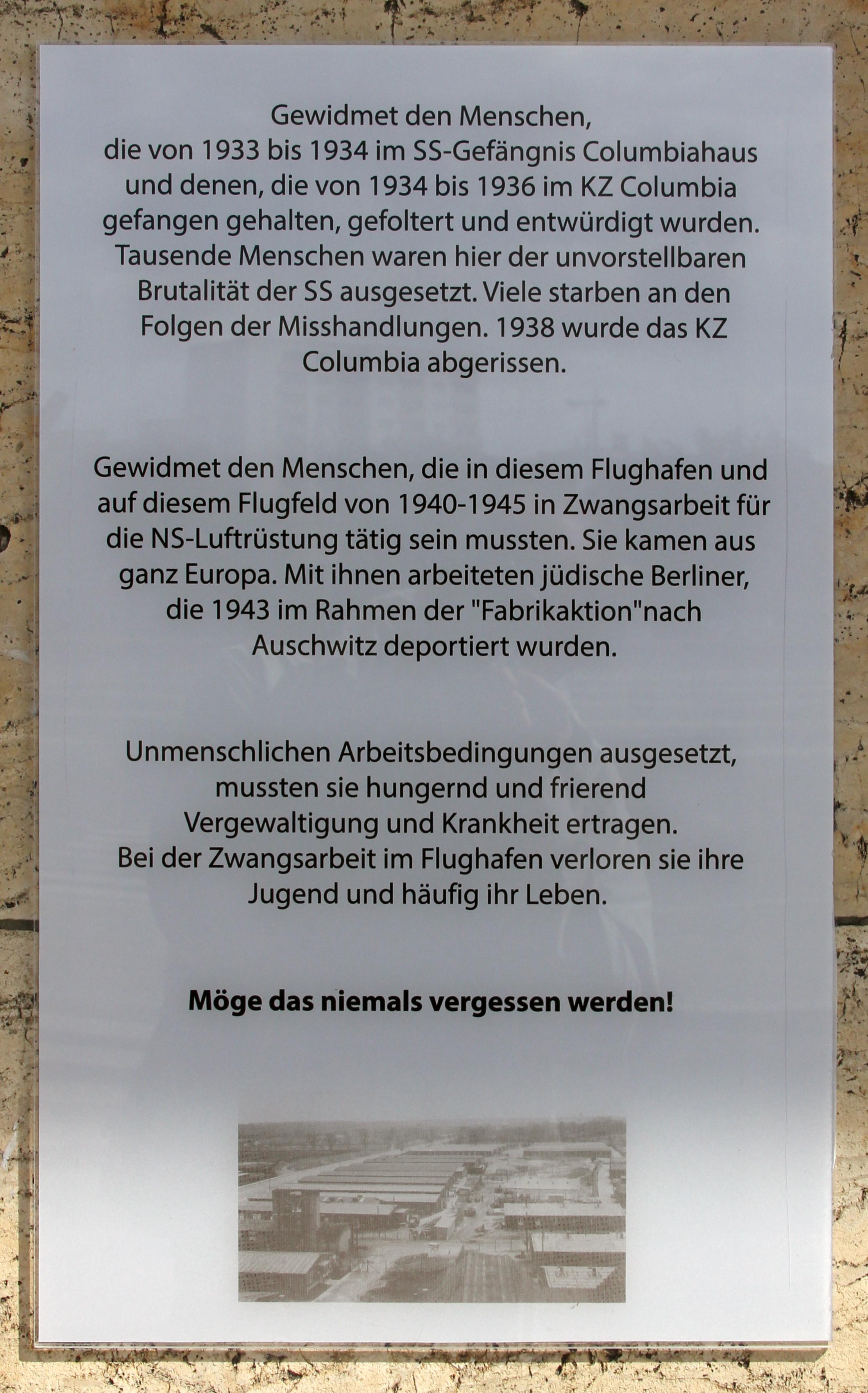 File:Gedenktafel Platz der Luftbrücke 5 (Temph) KZ Columbia.jpg ...