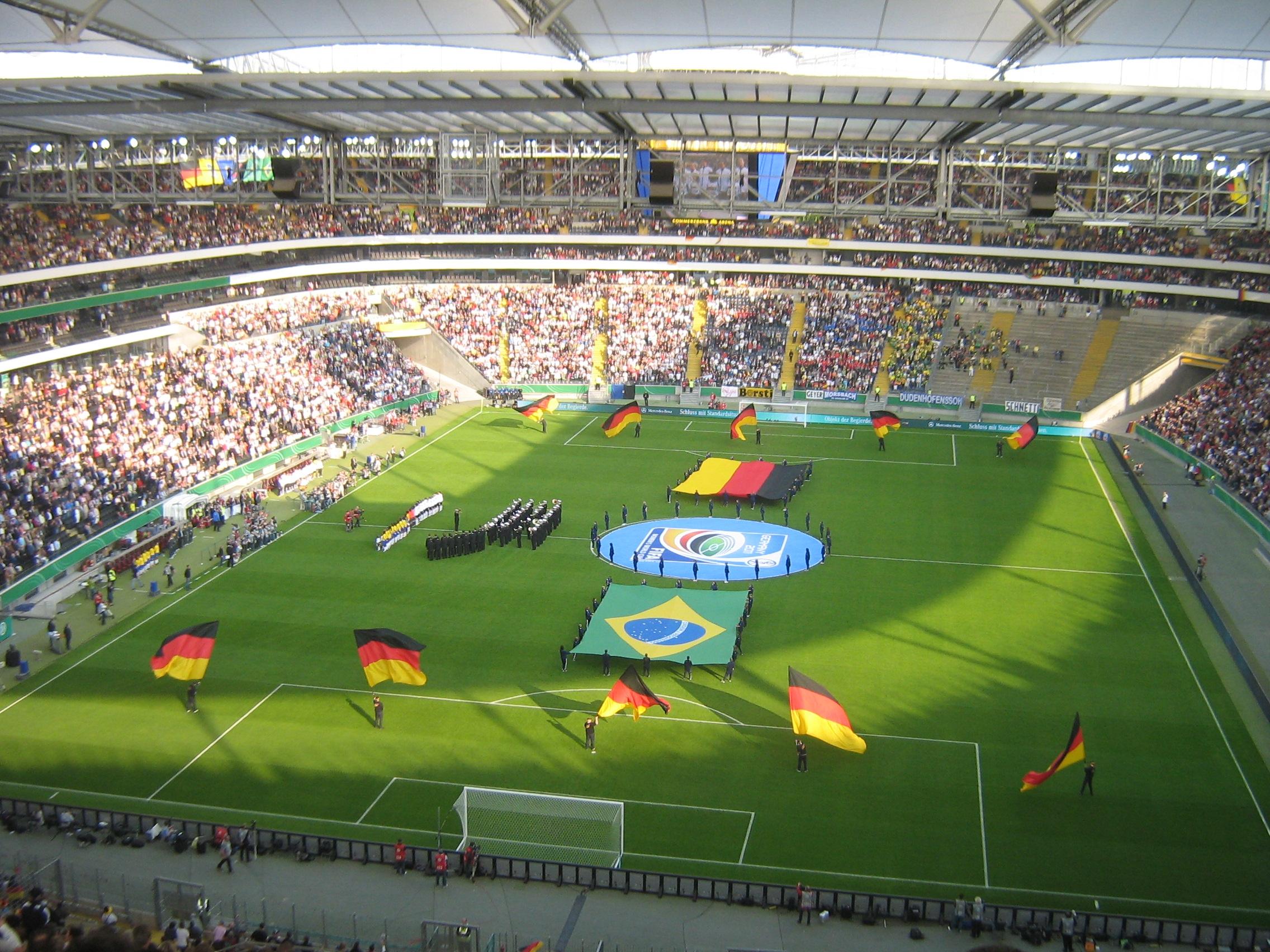 Germany women vs. Brazil women, before a crowd of 44,825. Frankfurt April 22, 2009